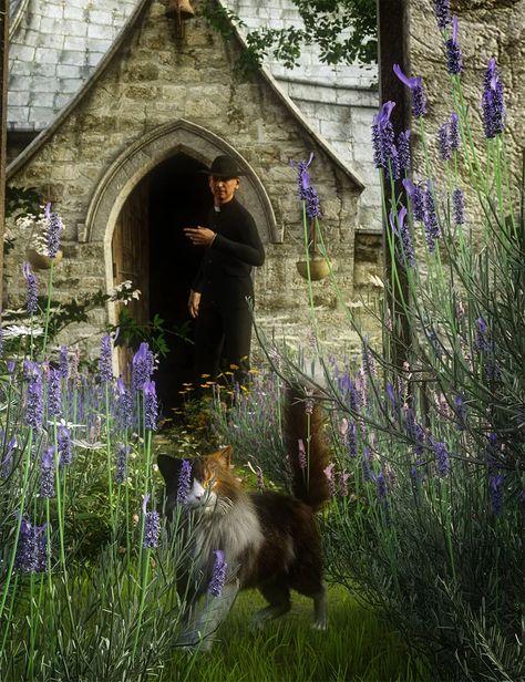Garden Flowers - Lavender Bushes - DAZ 3D Models - 3D CG