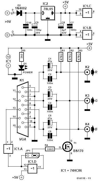 Vga Bnc Adapter Schematic Eletrônica Eletronicos