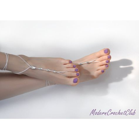 f43b66fac Simple Swarovski Barefoot Sandals