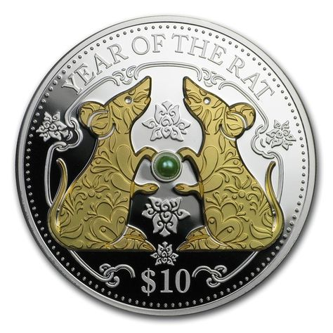 YEAR OF THE RAT ROYAL CANADIAN MINT 2020 $15 1 OZ PURE SILVER COIN