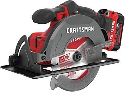 Craftsman V20 6 1 2 Inch Cordless Circular Saw Kit Cmcs500m1 Cordless Circular Saw Circular Saw Craftsman Tools