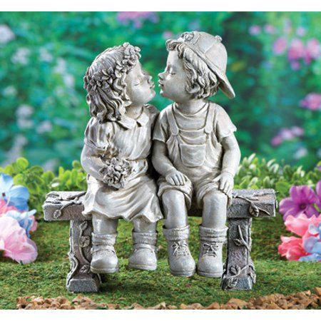 Bigbolo K N41 Garden Statue Puppy Love, Outdoor Figures For The Garden