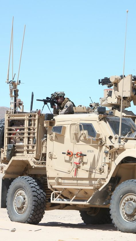 M-ATV, Oshkosh, MRAP, TerraMax, SXF, infantry mobility vehicle, desert (vertical)