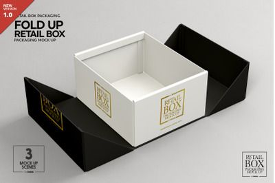 Download Fold Up Retail Box Packaging Mockup Psd Mockup Template Packaging Mockup Free Packaging Mockup Box Packaging