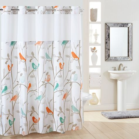 Hookless Scandiary Plain Weave Shower Curtain Liner Multi