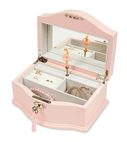 Jewelkeeper Girls Wooden Musical Jewelry Box With Lock An Https