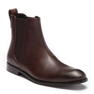 John Varvatos Star USA Men/'s Star Hallowell Chelsea Leather Dress Boot Espresso