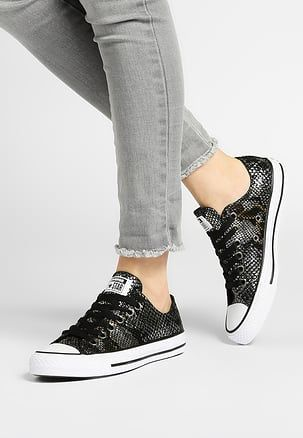 CHUCK TAYLOR ALL STAR FASHION SNAKE - Sneakers laag - black ...
