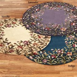 Felisha Lavender Round Rug 399 Touch Of Class Round Rugs Area