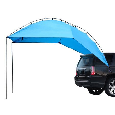 Leader Accessories Easy Set Up Camping Suv Tent Awning Canopy Sun Shelter Tailgate Tent Beach Tent Suitable For Suv Mini Van Campers Rvs Waterproof With Adjust Suv Tent Tailgate Tent Truck Tent