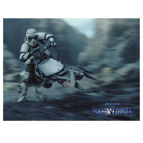 Star Wars The Mandalorian 2 Scout Trooper Mural - Officially Licensed Removable Wall Decal Giant Mural by Fathead | Vinyl