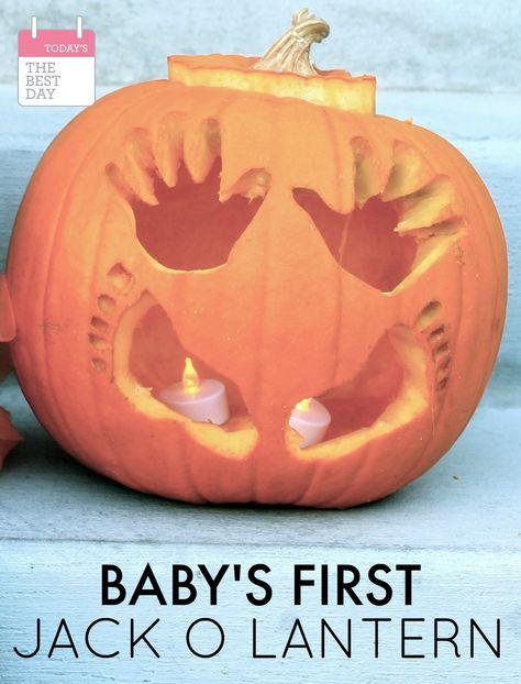 Baby's First Halloween Jack-O-Lantern