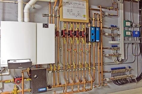 Radiant Floor Cooling Via Douglas Lavelle Mechanical Room