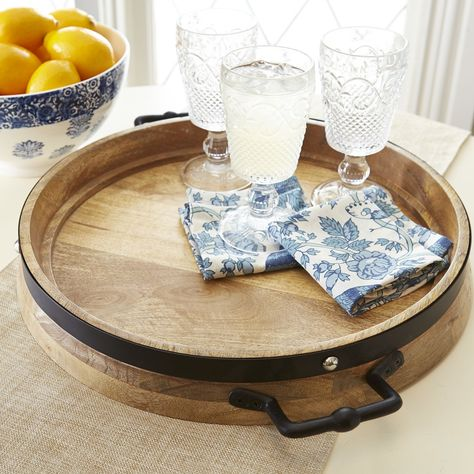 Anne Wooden Tray With Handles Serving Tray Decor Wooden Tray