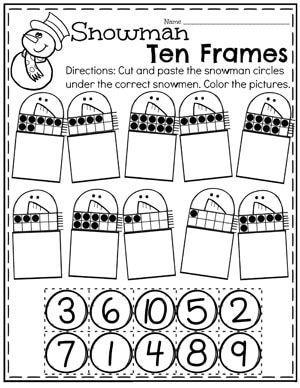 Task Shakti - A Earn Get Problem Winter Snowman 10 Frames Worksheets For Preschool Preschool Lesson Plans, Preschool Classroom, Preschool Worksheets, Preschool Learning, Kindergarten Activities, Winter Activities, Teaching, Christmas Math, Preschool Christmas