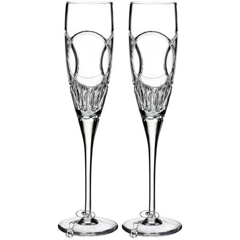 Waterford Love Wedding Vows Flute Pair ($135) liked on