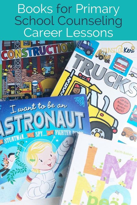 Looking for some great books for career lessons? You'll love these books for your school counseling classroom guidance lessons! Career education is important in primary school to introduce students in Pre-K, Kindergarten, first grade, and second grade to