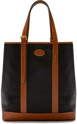 5f70c691dfb Mulberry Heritage Tote Black and Cognac Scotchgrain | Bags for Men ...