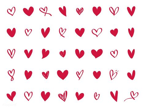 Collection of illustrated heart icons | free image by rawpixel.com / NingZk V.