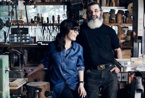 Nikole Herriott and her father Lance work together to create Herriott Grace homeware products.