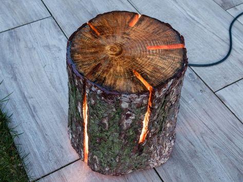Lampen Aus Holzstamm