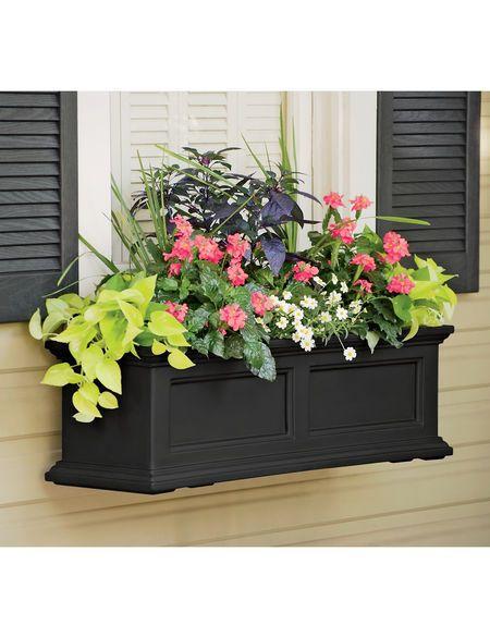 3 Ft Fairfield Window Box Self Watering Gardener S Supply Window Box Flowers Flower Boxes Window Boxes