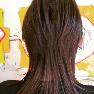ウルフカット ロング ストレート Yahoo 検索 画像 ロング シャグ ヘアカット レイヤーカットヘア V系 髪型
