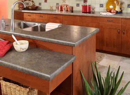 Rustic slate laminate countertop Kitchen Dream Home