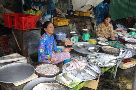 Fish Market Open Air Fish Markets Tam Dan Vietnam Traditional Food Open Air Traditional