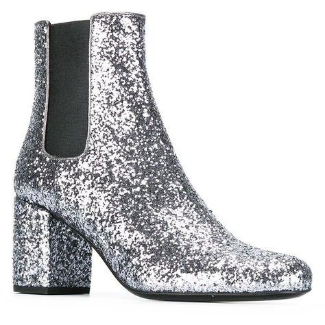4b788d83de1 Saint Laurent 'Babies' chelsea boots ($448) ❤ liked on Polyvore featuring  shoes, boots, ankle booties, block heel chelsea boots, chelsea ankle boots,  ...