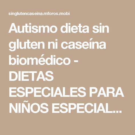 dieta para niños autistas