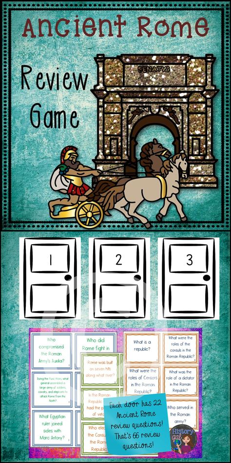 Ancient Rome Review Game Ancient Rome History Social Studies Lesson Plans
