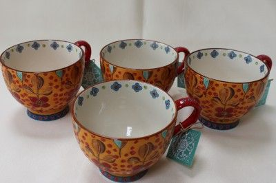 Dutch Wax Fl Jumbo Cups Coffee Tea Mugs Orange Red Blue S 4 Love These For The Kitchen Pinterest And