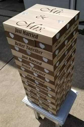 Wedding Guest Book  Anniversary Gift  Tumbling Blocks Game   FREE SHIPPING