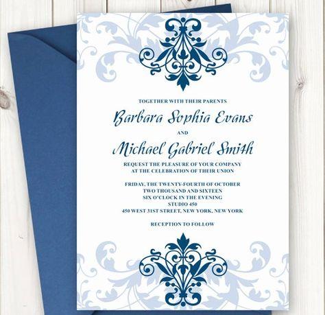√ 24 formal Wedding Invitation Templates in 2020 | Invitation ...