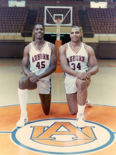 Chuck Person Charles Barkley Auburn Basketball Sports