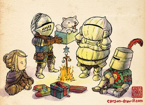 2014 HOLIDAY DOODLES Christmas Time in Lordran! — I drew some Holiday themed drawings! I may release these as wallpapers too, but here they are in low-res for now! More coming! Make sure to follow and watch me draw LIVE on TWITCH! See you online! HELP ME PICK MY NEXT T-SHIRT! Go HERE and vote for your favourite HERE!