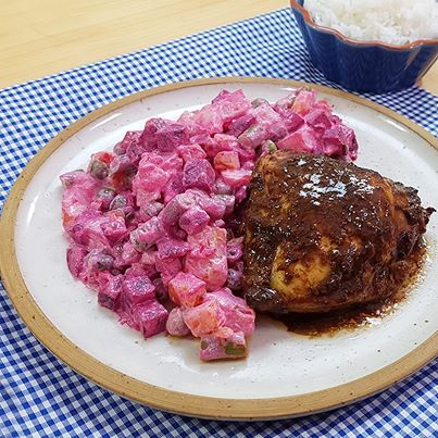 Pollo Al Horno Con Ensalada Rusa Peruvian Recipes Recipes Food