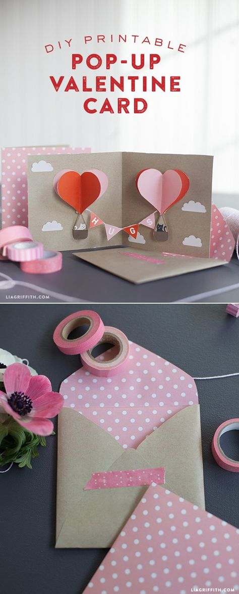 DIY Valentine Pop-Up Card pattern at www.LiaGriffith.com