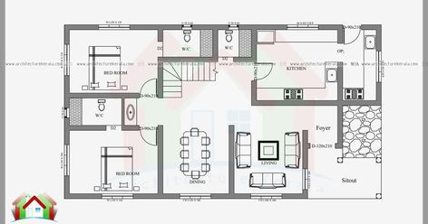 2400 Square Feet 4 Bedroom House Plan And Elevation Can Construct In 3 5 Cent Or 4 Cent Hous Four Bedroom House Plans Bedroom House Plans 4 Bedroom House Plans
