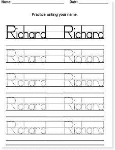 Editable Name Tracing Sheet | Totschooling - Toddler, Preschool ...