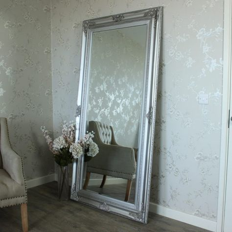 Extra Large Ornate Silver Wall Floor Mirror Wall Mirrors