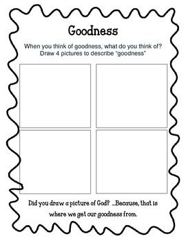 Fruit Of The Spirit Goodness Unit 6 Worksheets And Activities