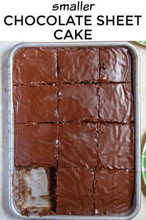 Texas Chocolate Sheet Cake Made Smaller A Quarter Sheet Cake
