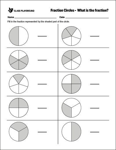 photo about Printable Fraction Circles identify Pinterest Пинтерест