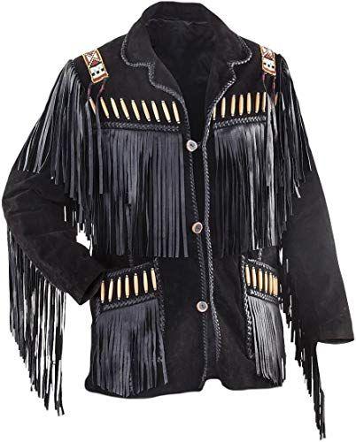 Bestzo Mens Fashion Bomber Suede Leather Jacket/Black