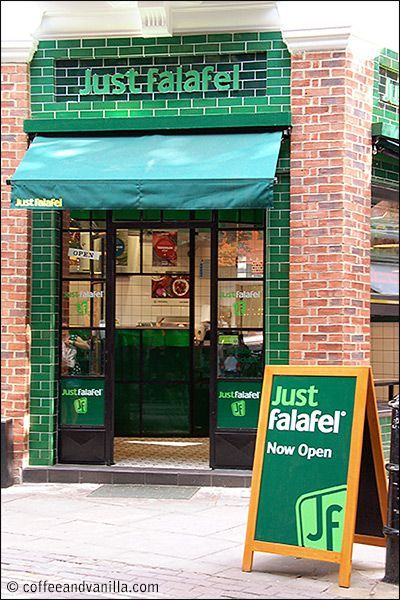 Vegetarian Fast Food From Just Falafel On Monmouth Street In