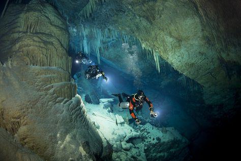 Deep in the underwater caves of Bermuda. Pirate treasure anyone?