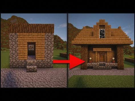Minecraft How To Remodel A Village Part 2 Small House