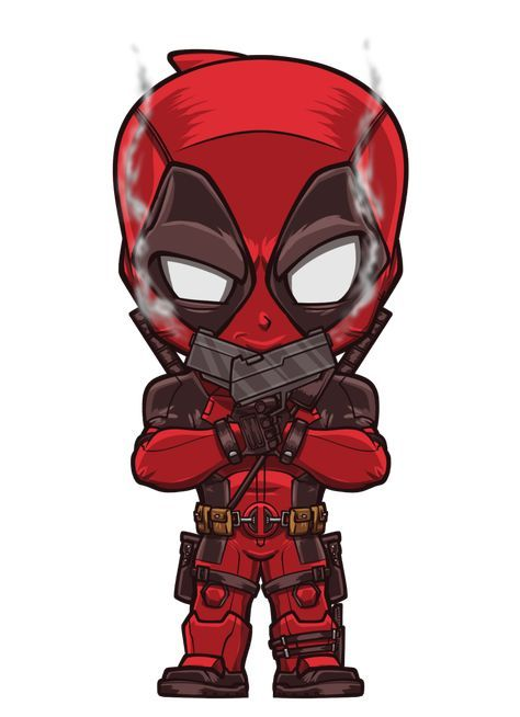 Deadpool By Lord Mesa Personagens Chibi Desenhos De Super Herois